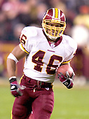 Washington Redskin kick returner Ladell Betts (46) returns the opening kick-off against the Philadelphia Eagles in Landover, Maryland on December 12, 2004.  The Eagles won the game 17 - 14..Credit: Ron Sachs / CNP