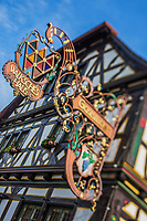 Europe/Allemagne/Bade-Würrtemberg/Forêt Noire/Env de Karlsruhe/Weingarten: Enseigne du restaurant: Walk ́sche Haus