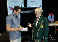 25.08.2016 South African coach Norma Plummer at the launch of the Netball Quad Series starting this weekend at Vector Arena in Auckland . Mandatory Photo Credit ©Michael Bradley.