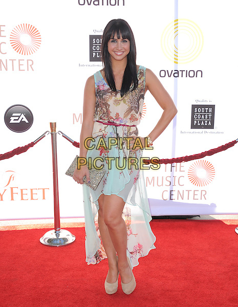 Lauren Gottlieb.attends the Dizzy Feet Foundation's Celebration of Dance Gala held at The Dorothy Chandler Pavilion at The Music Center in Los Angeles, California, USA,  July 28th 2012..full length blue print hand on hip dress sleeveless branch clutch bag                                                     .CAP/RKE/DVS.©DVS/RockinExposures/Capital Pictures.