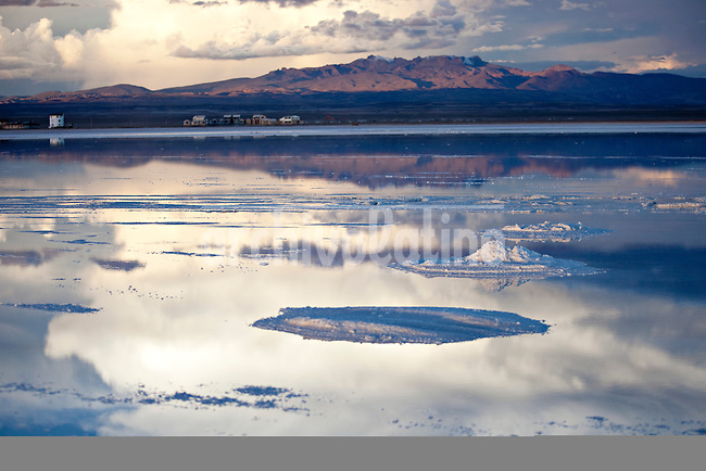"""Uyuni Salt Flats, Bolivia<br /> April 19, 2012<br /> A view of the  Uyuni Salt Flats, the largest salt desert in the world and one of the main attractions for the Dakar 2014 next January.  ©PATRICIO CROOKER/ARCHIVO LATINO For  the first time in its history,  in January 2014 the Dakar Rally will  be cross part of Bolivia, one of the wildest South American nations.  """"The organizers of the Dakar, attracted by the discovery of new spaces, were conquered by Bolivian landscapes that can be classified among the most striking of the continent,"""" says the official site of the international race.<br /> The most impressive is the section that runs through the Salar of Uyuni,  considered the world's largest salt flat and a place of surreal beauty, almost otherworldly.<br /> The competition is scheduled for  in January 2014. Our photographer and  friend Patricio Crooker  show us  the unique beauty of the places the rally will hit."""
