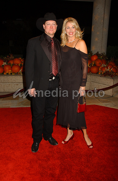 06 November 2007 - Nashville, Tennessee - Tracy Lawrence and wife Becca. BMI Country Awards 2007 held at BMI Headquarters. Photo Credit: Laura Farr/AdMedia