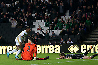 Kieran Agard of MK Dons scores the second goal during MK Dons vs Macclesfield Town, Sky Bet EFL League 2 Football at stadium:mk on 17th November 2018