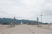 Landscape view of the damaged gate at Ofunato port following the 311 Tohoku Tsunami in Ofunato, Japan  © LAN