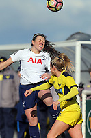 Ella Franklin-Fraiture of Oxford United Ladies and Ryah Vyse of Tottenham Ladies during Tottenham Hotspur Ladies vs Oxford United Women, FA Women's Super League FA WSL2 Football at Theobalds Lane on 11th February 2018