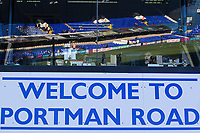 Welcome to Portman Road during Ipswich Town vs Preston North End, Sky Bet EFL Championship Football at Portman Road on 3rd November 2018