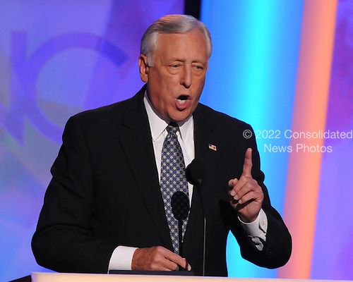 Denver, CO - August 26, 2008 --  United States Representative Steny H. Hoyer (Democrat of Maryland), The United States House Majority Leader, makes remarks at the 2008 Democratic National Convention at the Pepsi Center in Denver, Colorado on Tuesday, August 26, 2008..Credit: Ron Sachs - CNP.(RESTRICTION: NO New York or New Jersey Newspapers or newspapers within a 75 mile radius of New York City)