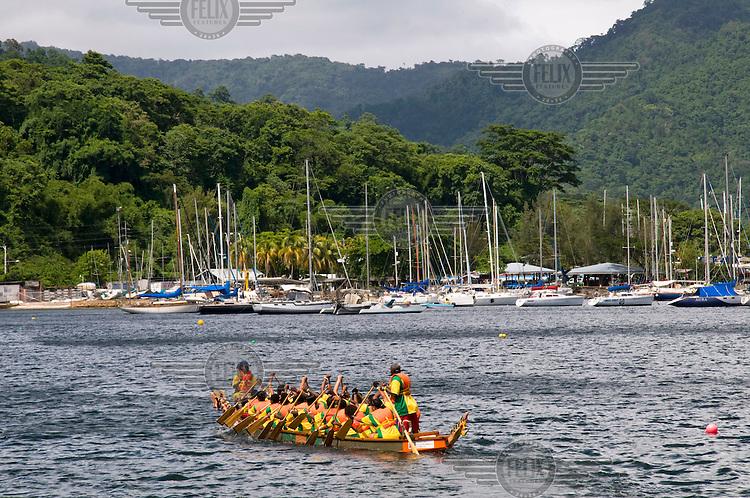 Regatta boat race in Chaguaramas Bay near the yachting centre.