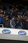 Blackburn Rovers 3 Shrewsbury Town 1, 14/01/2018. Ewood Park, League One. Home supporters in the Jack Walker Stand watching captain Charlie Mulgrew leading his team on to the pitch before Blackburn Rovers played Shrewsbury Town in a Sky Bet League One fixture at Ewood Park. Both team were in the top three in the division at the start of the game. Blackburn won the match by 3 goals to 1, watched by a crowd of 13,579. Photo by Colin McPherson.