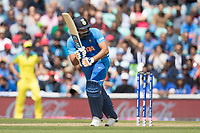 Rohit Sharma (India) pushes square of the wicket during India vs Australia, ICC World Cup Cricket at The Oval on 9th June 2019