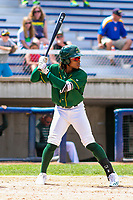 Beloit Snappers outfielder JaVon Shelby (5) during a Midwest League game against the Quad Cities River Bandits on June 18, 2017 at Pohlman Field in Beloit, Wisconsin.  Quad Cities defeated Beloit 5-3. (Brad Krause/Krause Sports Photography)