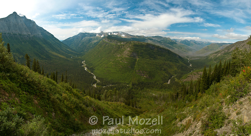 MacDonald Creek Valley, Glacier National Park, Montana