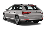 Car pictures of rear three quarter view of 2019 Skoda Superb-Combi Sport-Line 5 Door Wagon Angular Rear