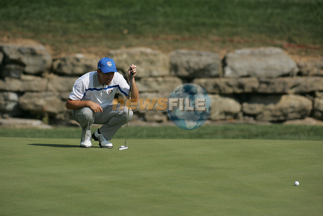 Padraig Harrington on the 16th hole in the opening foursomes at the 37th Ryder Cup at Valhalla Golf Club, Louisville, Kentucky, USA - 19th September 2008 (Photo by Manus O'Reilly/GOLFFILE)