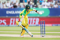 Steve Smith (Australia) scampers a quick single during Australia vs England, ICC World Cup Semi-Final Cricket at Edgbaston Stadium on 11th July 2019