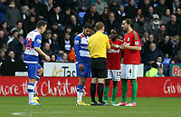 Wednesday 26 December 2012<br /> Pictured: (L-R) Ian Harte, Nathan Dyer, Chico Flores.<br /> Re: Barclays Premier League, Reading v Swansea City FC at the Madejski Stadium, Reading, Berkshire.