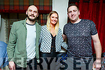 Kate O'Regan from Tralee celebrating her birthday in Cassidys on Saturday night.<br /> L to r: Mike and Kate O'Regan and Eoghan O'Donnell.
