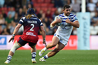 Nathan Catt of Bath Rugby in possession. Gallagher Premiership match, between Bristol Bears and Bath Rugby on August 31, 2018 at Ashton Gate Stadium in Bristol, England. Photo by: Patrick Khachfe / Onside Images