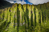 An aerial view of the Ko'olau Mountains, Kane'ohe, O'ahu.