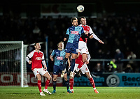 Fleetwood Town's Glenn Whelan (right) competing with Wycombe Wanderers' Alex Pattison <br /> <br /> Photographer Andrew Kearns/CameraSport<br /> <br /> The EFL Sky Bet League One - Wycombe Wanderers v Fleetwood Town - Tuesday 11th February 2020 - Adams Park - Wycombe<br /> <br /> World Copyright © 2020 CameraSport. All rights reserved. 43 Linden Ave. Countesthorpe. Leicester. England. LE8 5PG - Tel: +44 (0) 116 277 4147 - admin@camerasport.com - www.camerasport.com