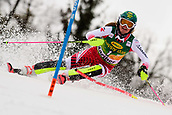 2nd February 2019, Maribor, Slovenia;  Katharina Liensberger of Austria in action during the Audi FIS Alpine Ski World Cup Women's Slalom Golden Fox on February 2, 2019 in Maribor, Slovenia