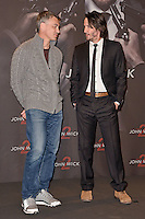 "Chad Stahelski and Keanu Reeves. Photocall for ""John Wick 2"" held at Hotel de Rome in Berlin, Germany, 06.02.2016. Photo Credit: Kubelka/face to face/AdMedia"