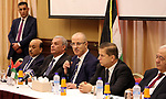 Palestinian Prime minister, Rami Hamadallah, meets with Members of factions and national forces, in Gaza city on October 4, 2017. Photo by Prime Minister Office