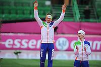 SCHAATSEN: HAMAR: Vikingskipet, 11-01-2014, Essent ISU European Championship Allround, podium 5000m, Douwe de Vries (NED), ©foto Martin de Jong