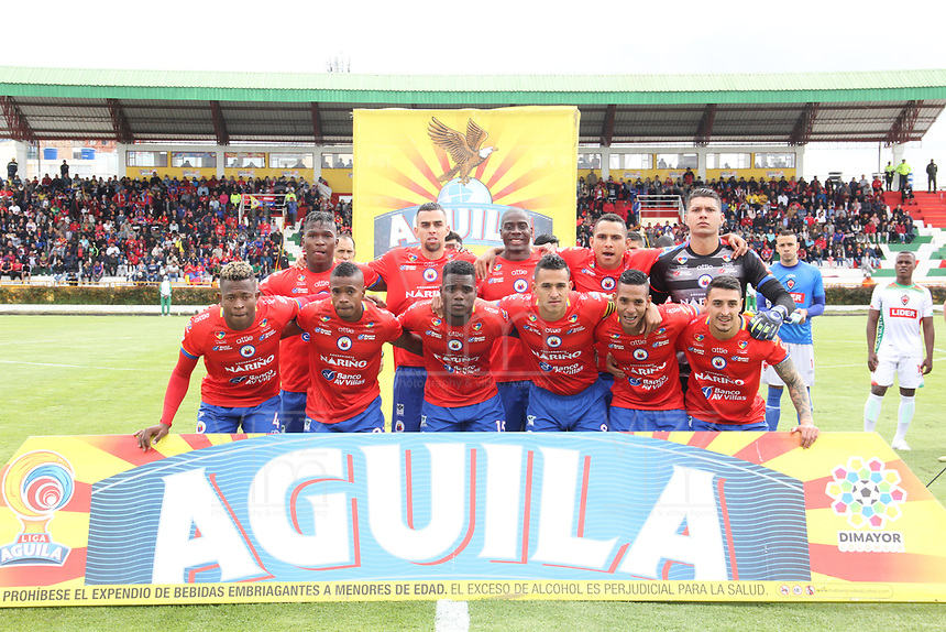 IPIALES - COLOMBIA, 28-04-2019: Jugadores del Pasto posan para una foto previo al partido por la fecha 18 de la Liga Águila I 2019 entre Deportivo Pasto y Patriotas Boyacá jugado en el estadio Estadio Municipal de Ipiales. / Players of Pasto pose to a photo prior match for the date 18 as part of Aguila League I 2019 between Deportivo Pasto and Patriotas Boyaca played at Municipal stadium of Ipiales.  Photo: VizzorImage / Leonardo Castro / Cont
