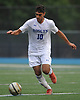 Ariel Samoohy #10 of Roslyn moves a ball downfield during a Nassau County varsity boys soccer game against Roosevelt at Roslyn High School on Thursday, Oct. 5, 2017.
