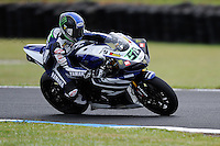PHILLIP ISLAND, 27 FEBRUARY - Eugene Laverty (IRL) riding the Yamaha YZF R1 (58) of the Yamaha World Superbike Team during race one of round one of the 2011 FIM Superbike World Championship at Phillip Island, Australia. (Photo Sydney Low / syd-low.com)
