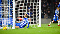 Glenn Murray of Brighton & Hove Albion (17) just misses an open goal in the second half  during the EPL - Premier League match between Brighton and Hove Albion and Burnley at the American Express Community Stadium, Brighton and Hove, England on 16 December 2017. Photo by Edward Thomas / PRiME Media Images.
