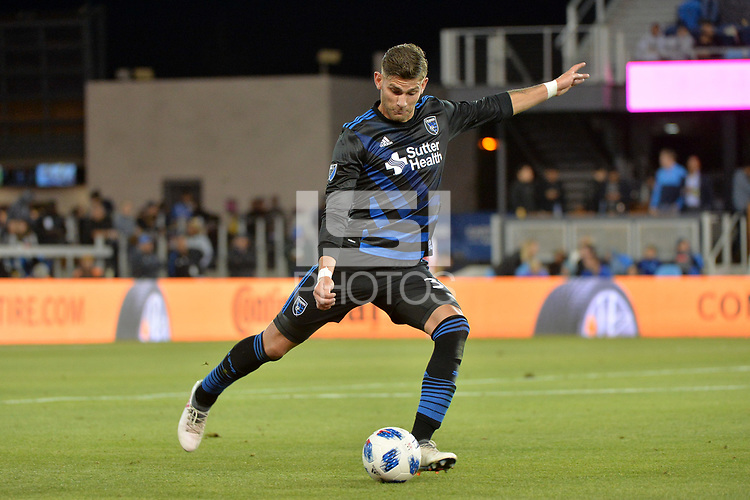 San Jose, CA - Saturday April 14, 2018: Yeferson Quintana during a Major League Soccer (MLS) match between the San Jose Earthquakes and the Houston Dynamo at Avaya Stadium.