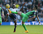 Youssuf Mulumbu of West Bromwich Albion tackled by Remy Cabella of Newcastle United - Barclays Premier League - WBA vs Newcastle Utd - Hawthorns Stadium - West Bromwich - England - 9th November 2014  - Picture Simon Bellis/Sportimage