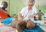 Comboni Sister Maria Martinelli, an Italian physician, examines a young patient in the St. Daniel Comboni Catholic Hospital in Wau, South Sudan. Martinelli is the hospital's medical director.