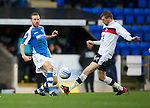 St Johnstone v Dundee.....02.01.13      SPL.Rowan Vine and Iain Davidson.Picture by Graeme Hart..Copyright Perthshire Picture Agency.Tel: 01738 623350  Mobile: 07990 594431