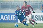 Guangzhou Defender Wang Shangyuan (R) fights for the ball with Suwon Midfielder Natanael Santos Junior (L) during the AFC Champions League 2017 Group G match Between Suwon Samsung Bluewings (KOR) vs Guangzhou Evergrande FC (CHN) at the Suwon World Cup Stadium on 01 March 2017 in Suwon, South Korea. Photo by Victor Fraile / Power Sport Images