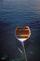 Rowing boat,Fishing boats in the harbour of Los Abrigos, Tenerife, Canary Islands, Spain