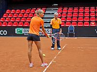 April 16, 2015, Netherlands, Den Bosch, Maaspoort, Fedcup Netherlands-Australia,  Training session<br /> Photo: Tennisimages/Henk Koster