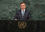 Opening of GA 72 2017 PM<br /> <br /> His Excellency Andrzej Duda, President of the Republic of Poland