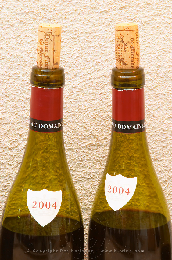 Bottle necks 2004. Domaine Negociant Champy Pere & Fils, Beaune, Burgundy, France