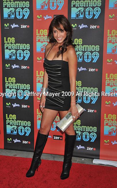 UNIVERSAL CITY, CA. - October 15: Fernanda Romero attends Los Premios MTV 2009 Latin America Awards held at the Gibson Amphitheatre on October 15, 2009 in Universal City, California.