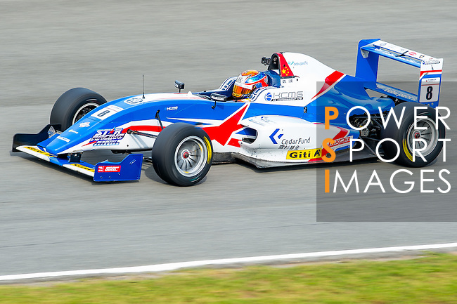 Yuan Bo of China and Cebu Pacific Air by KCMG  drives the Formula Masters China Series as part of the 2015 Pan Delta Super Racing Festival at Zhuhai International Circuit on September 20, 2015 in Zhuhai, China.  Photo by Aitor Alcalde/Power Sport Images