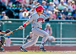 16 July 2017: Auburn Doubledays outfielder Kameron Esthay in action against the Vermont Lake Monsters at Centennial Field in Burlington, Vermont. The Monsters defeated the Doubledays 6-3 in NY Penn League action. Mandatory Credit: Ed Wolfstein Photo *** RAW (NEF) Image File Available ***