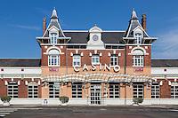 France, Pas-de-Calais (62), Côte d'Opale ,  Berck: Le Casino est l'ancienne gare  de Berck-Plage   //  France, Pas de Calais, Cote d'Opale (Opal Coast),  Berck:  The station casino