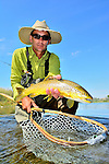 Bighorn River  Fort Smith Montana, Fly fishing image, Clint Crumb's handheld Brown trout