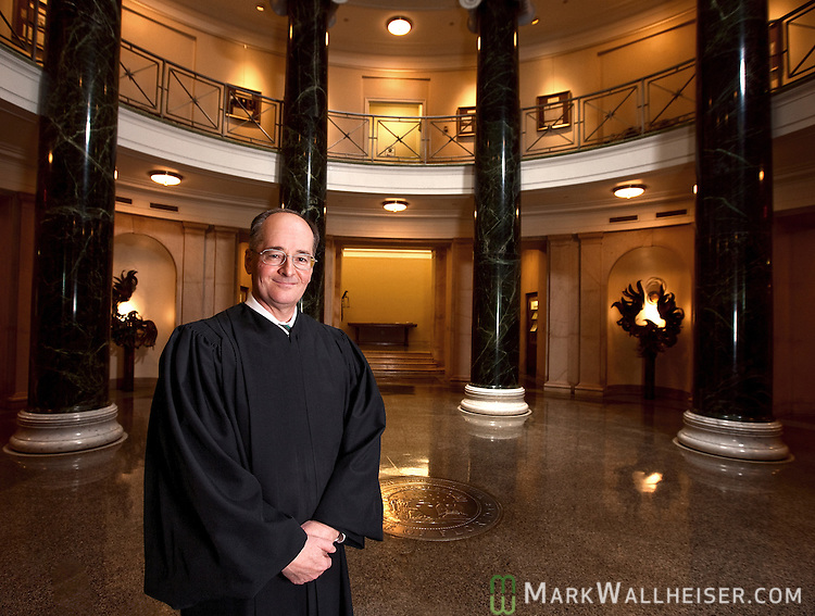 Charles Canady, Chief Justice of the Florida Supreme Court and his court in Tallahassee, Florida May 20, 2010.
