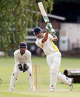 S Chavda hits out for Bessborough during the Middlesex County League Division Three game between Highgate and Bessborough at Park Road, Crouch End on Sat Sept 4, 2010