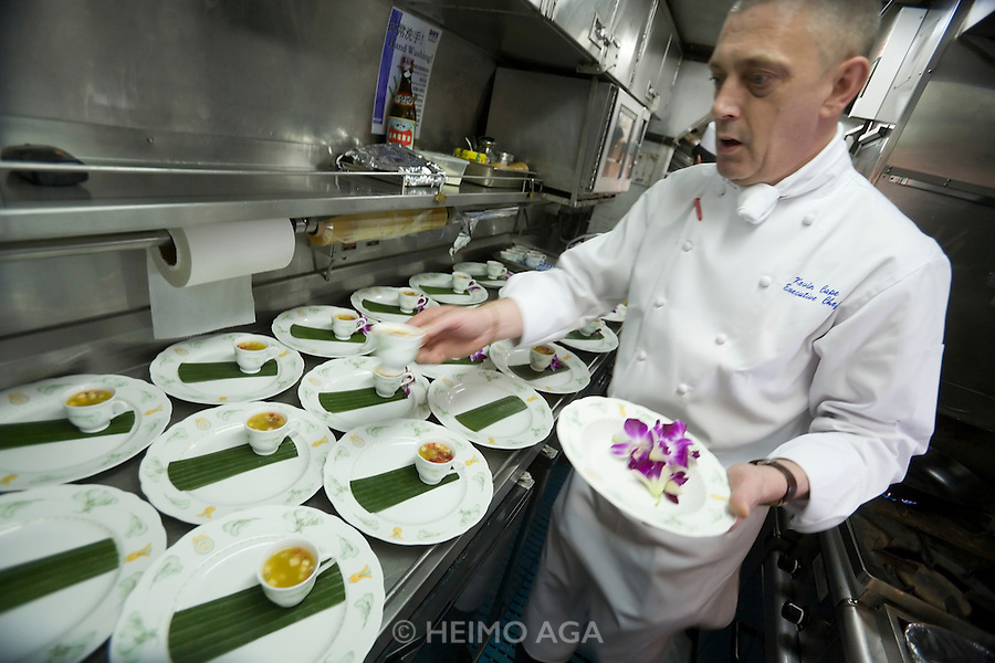 Eastern & Oriental Express. Executive Chef Kevin Cape.