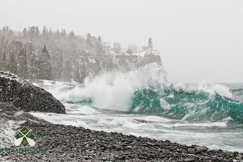 &quot;Winter Storm at Split Rock Lighthouse&quot;<br />